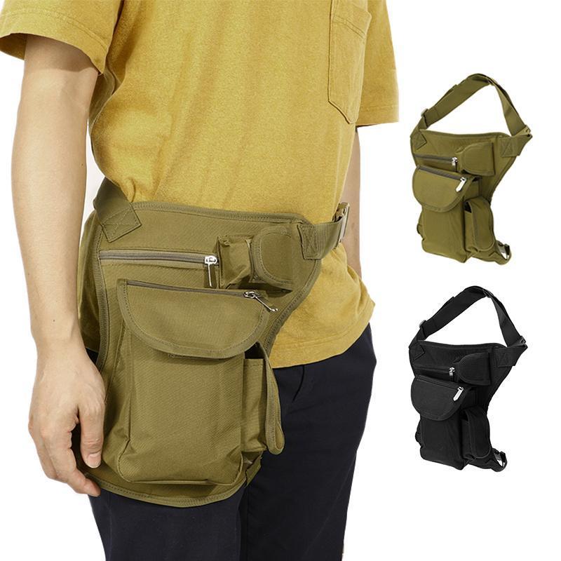 Männer Leinwand Drop Beinbeutel Tasche Tasche Fanny Pack Gürtel Hüfte Bum Travel Mehrzweck Klettern Unisex Laufsäcke