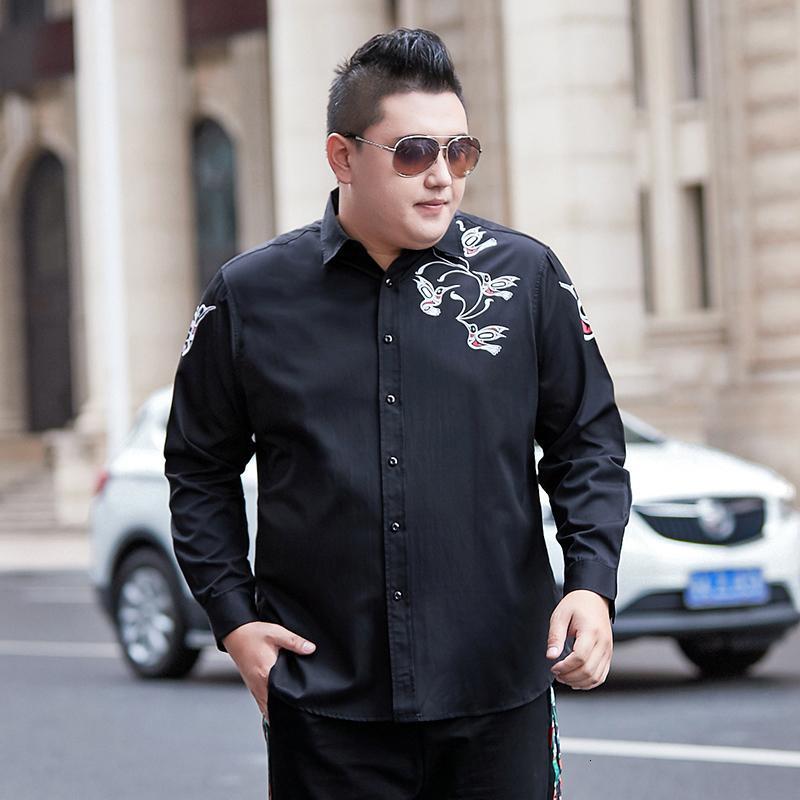 Camicie casual da uomo 2021 Plus Grande taglia 8XL 7XL 6XL 5XL 4XL camicia a maniche lunghe a maniche lunghe classiche Abito sociale maschile a strisce classico