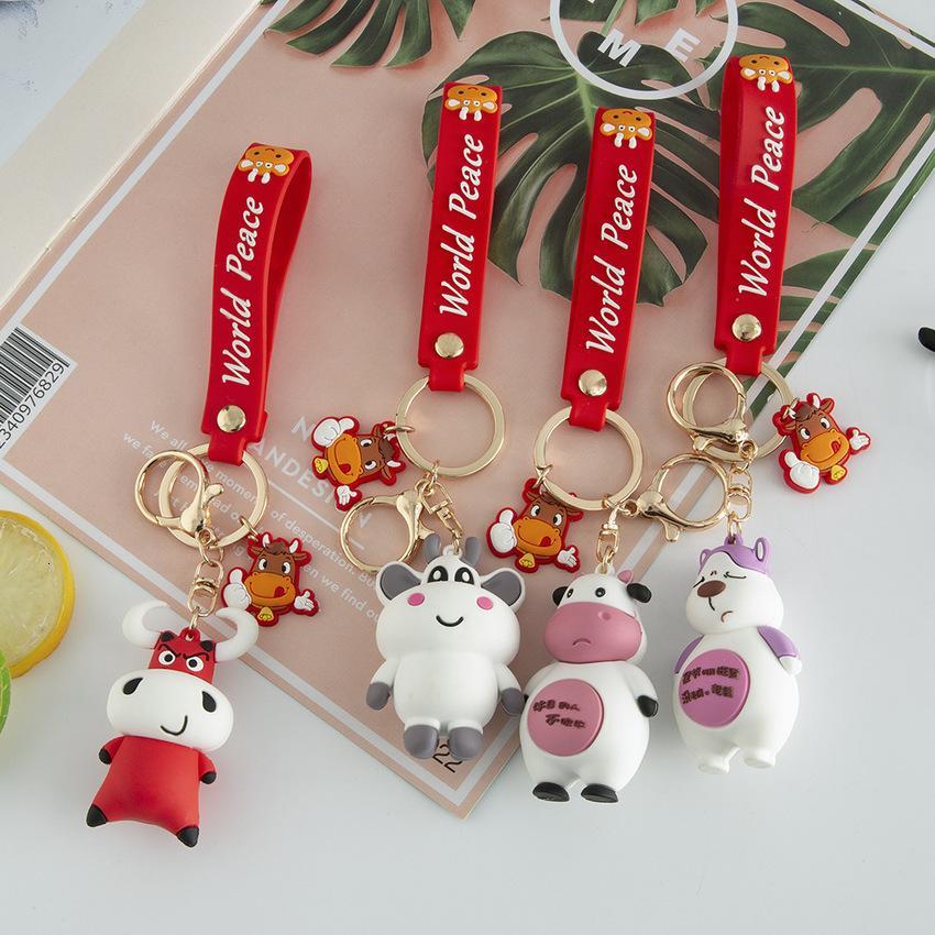 Cartoon Nette Tierpuppe Schlüsselanhänger Kreative PVC Material Handy Anhänger Tasche Kleines Geschenk GFDH