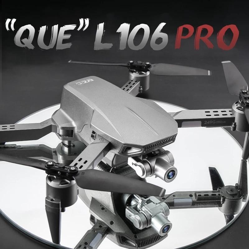 L106 PRO 4K Dual Camera 5G-WIFI 50x Zoom Drone, Simulators, 2 Axis Gimbal Anti-shake, GPS& Optical Flow Positioning, Smart Follow, Low Power Return, 2-1