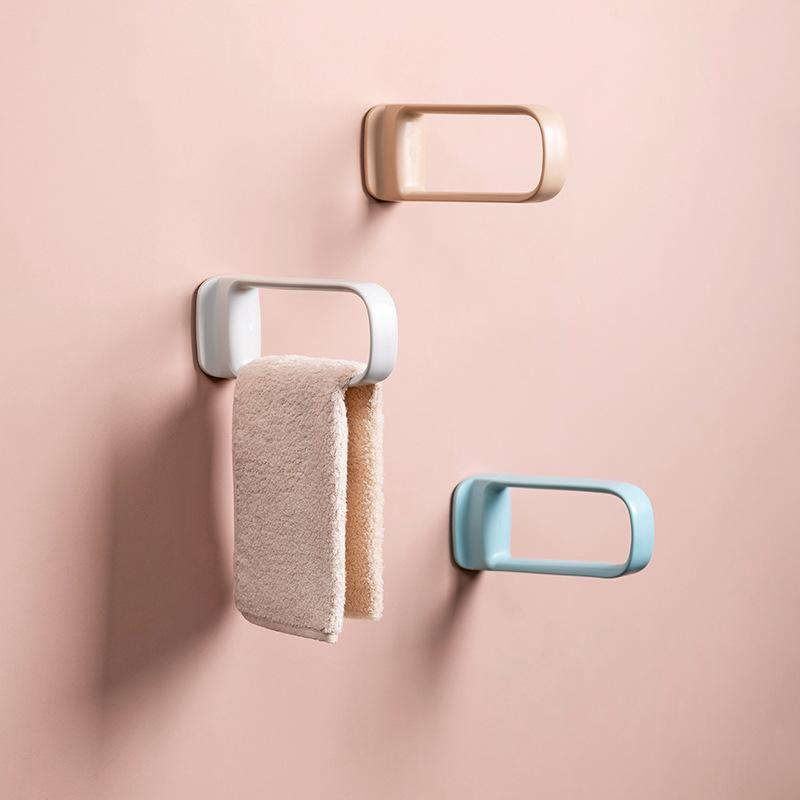 Rack de armazenamento ABS Nenhum suporte de toalha de banho de banho prateleira de armazenamento organizador de casa cozinha ferramenta de banheiro para toalhas