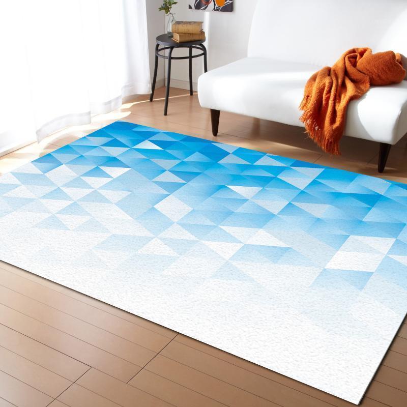 Geometric Gradient Mosaic Triangle Tappeti per soggiorno Camera da letto Tappeto Bambini Stanza dei bambini Play Mat 3D Stampato Home Grande tappeto1