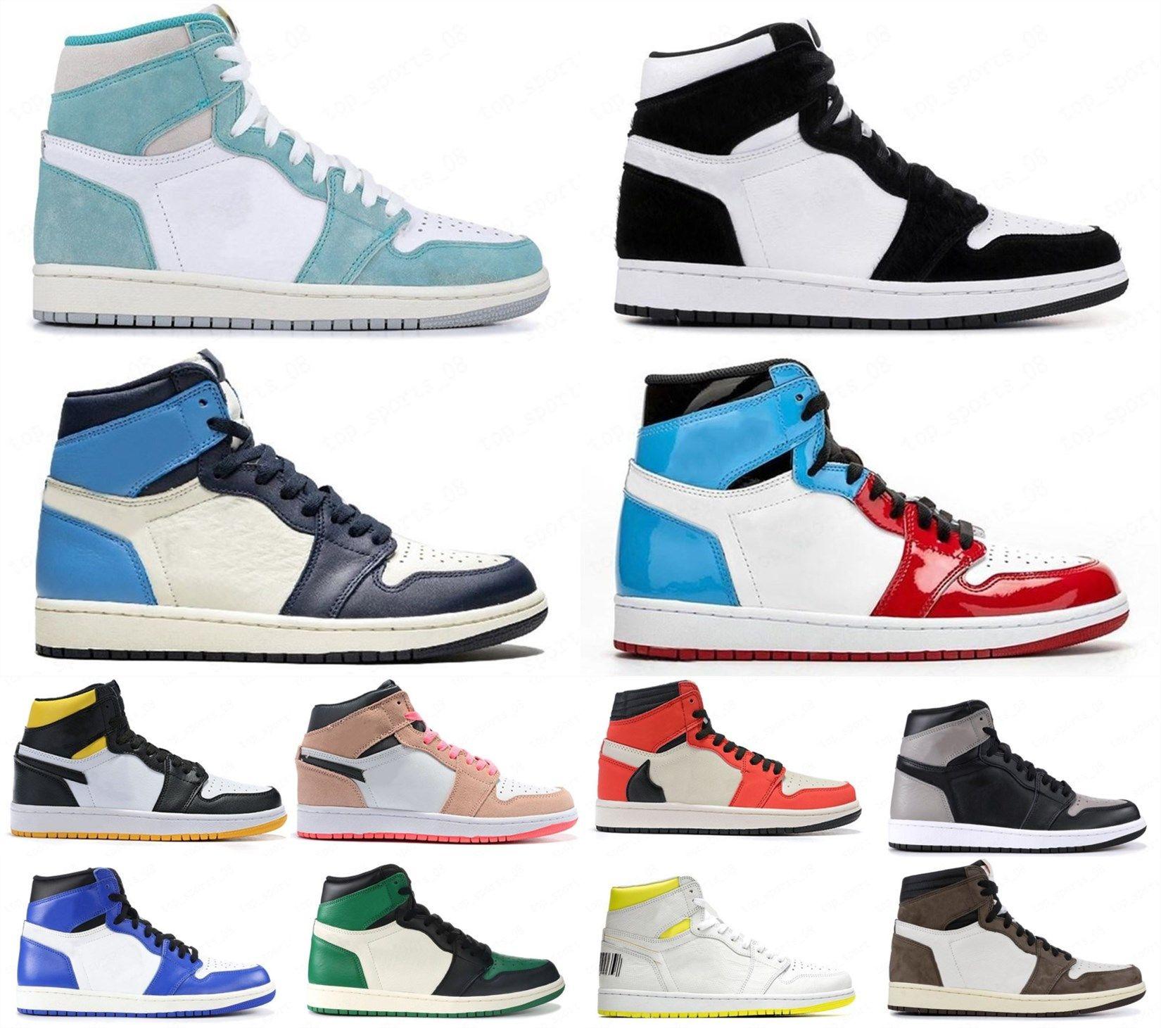 1 1s High Royal Toe Court Roxo Jogo Royal Pine Black Men Sapatos de basquete 1s High 85 Varsity Red Sneaker