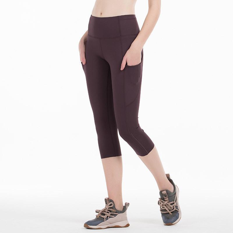 Kadınlar Cep Spor Tayt Yoga Pantolon Tayt Yüksek Bel Koşu Egzersiz Spor Giyim Spor Giyim
