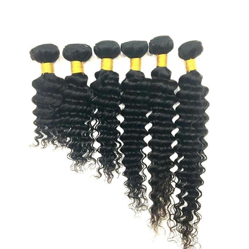 Бразильские волосы для волос для волос девственницы девственницы Глубокая волна вьющиеся ветки 8-34 дюймов необработанных малайзийских перуанских индийских человеческих волос