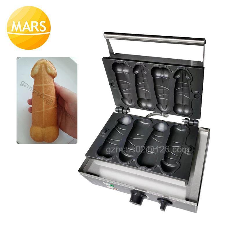 Produttori di pane uso commerciale 4pcs Penis bolla waffle tampone macchina elettrica antiaderente 110V 220V maker forma ferro piatto