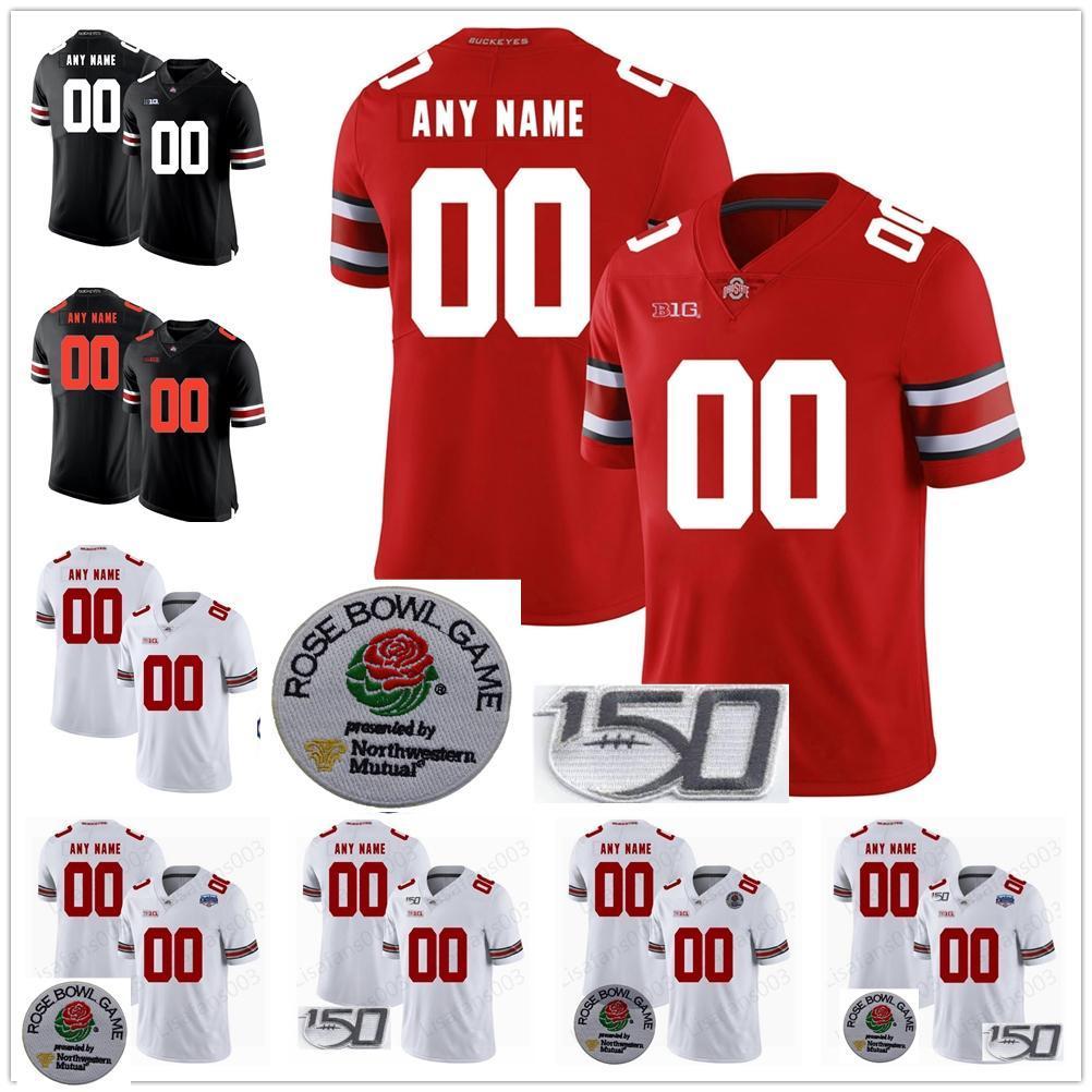 Custom Ohio State Buckeyes Ronnie Hickman Collège Football Jerseys Eddie George Fields Dobbins Olave Jeune Teague Burrow Osu 150