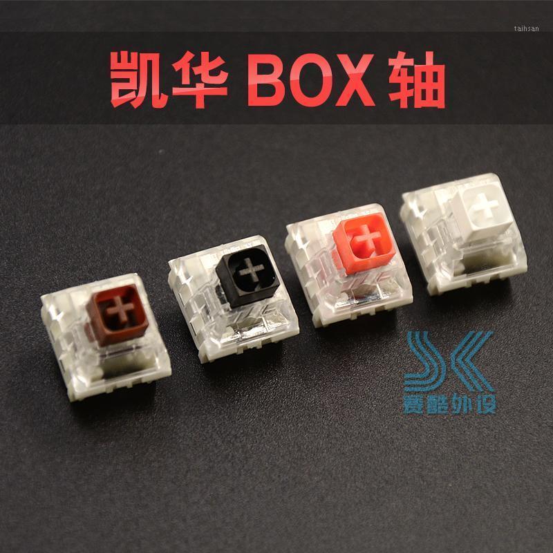 Kailh Caixa Interruptor Mecânico Teclado DIY RGB SMD Vermelho Vermelho Brown Switches Dustproof IP56 Impermeável Compatível Cherry MX1