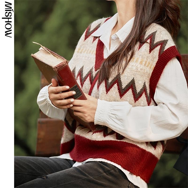 Mishow 2020 Automne Pull Gilet pour femme Pull sans manches Casual Col V Hitwear Vêtements de plein air Vêtements de plein air MX20C5344 LJ201126