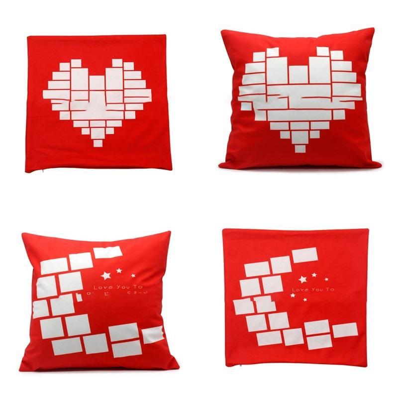 승화 빈 문 스타 필로 포케이즈 레드 소프트 가정용 베개 립 사랑 심장 남자 여자 베개 케이스 단순 8ex P2
