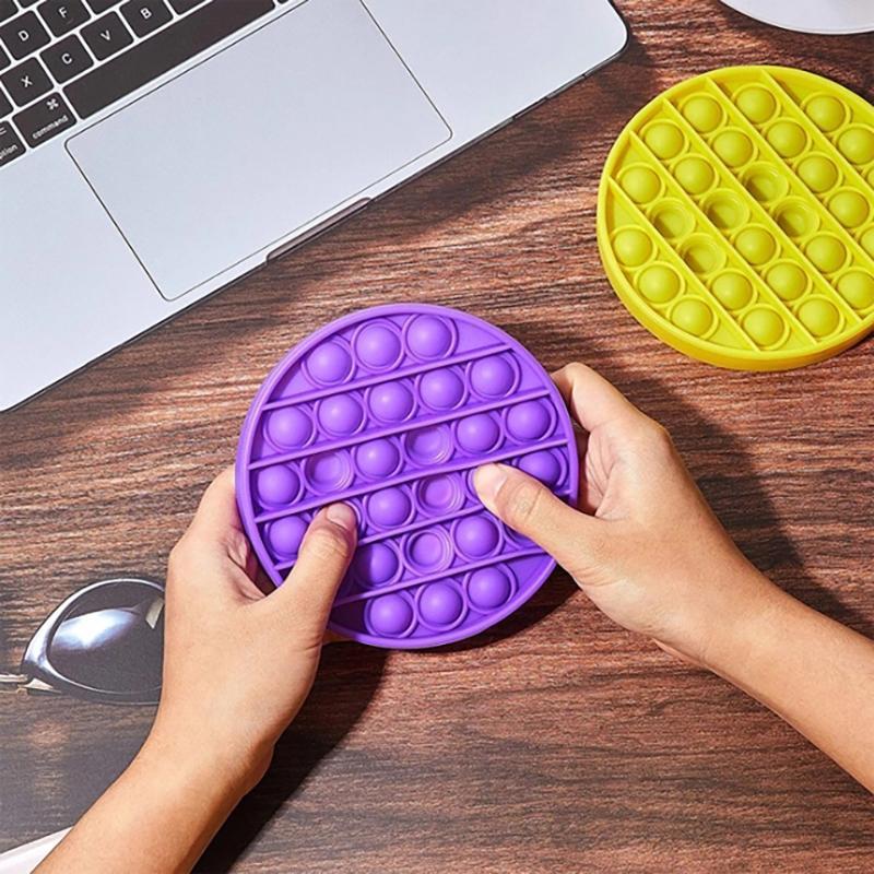 Circular-shape Stress Relief Bubble fidget Toys pop it Kids Sensory Toys For Adults Desktop educational toys
