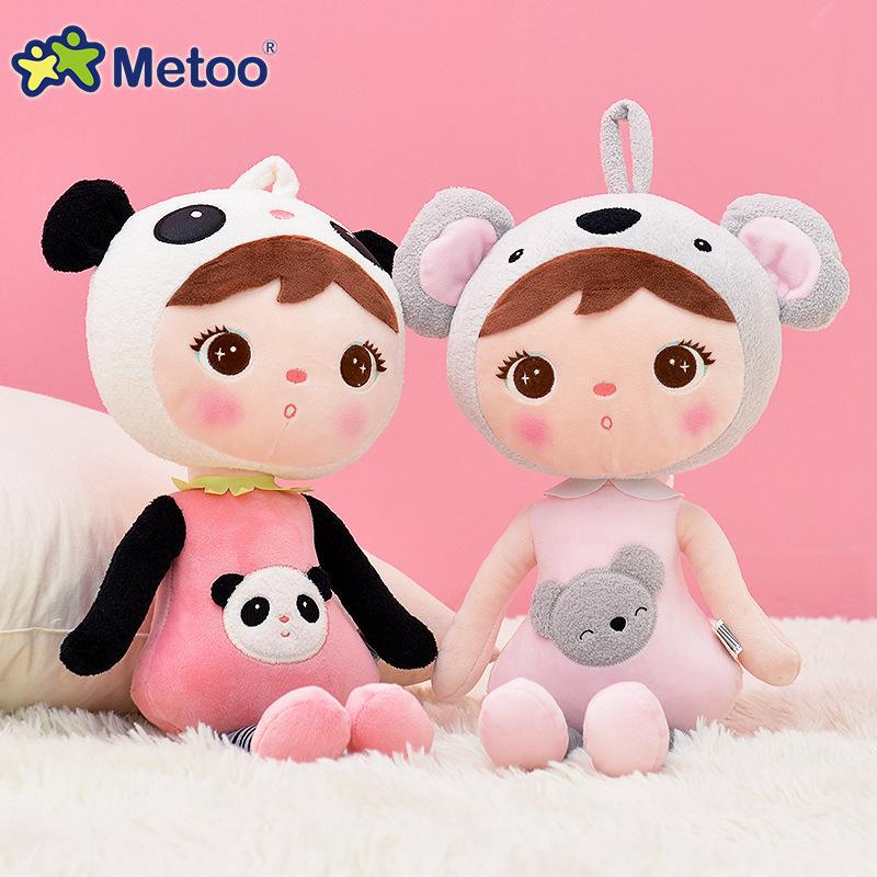45cm kawaii Stuffed Plush Animals Cartoon Kids Toys for Girls Children Boys Kawaii Baby Plush Toys Koala Panda Baby Metoo Doll LJ200827