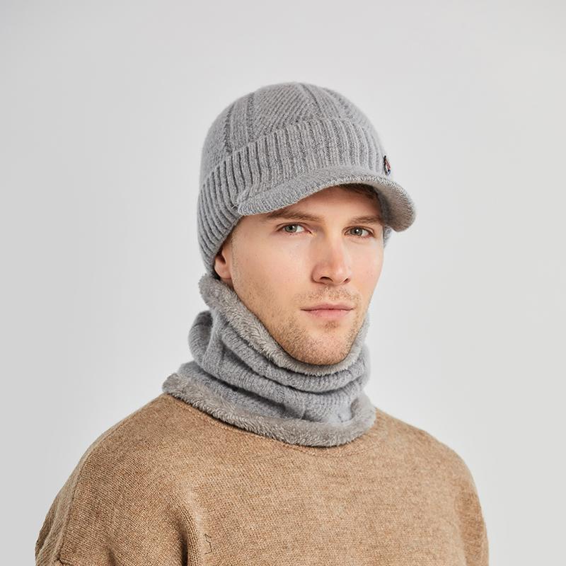 Winter Hats For Men Skullies Beanie Hat ski warm Cap Men Women Wool Scarf Caps Set Balaclava Mask Gorras Bonnet Knitted Hat