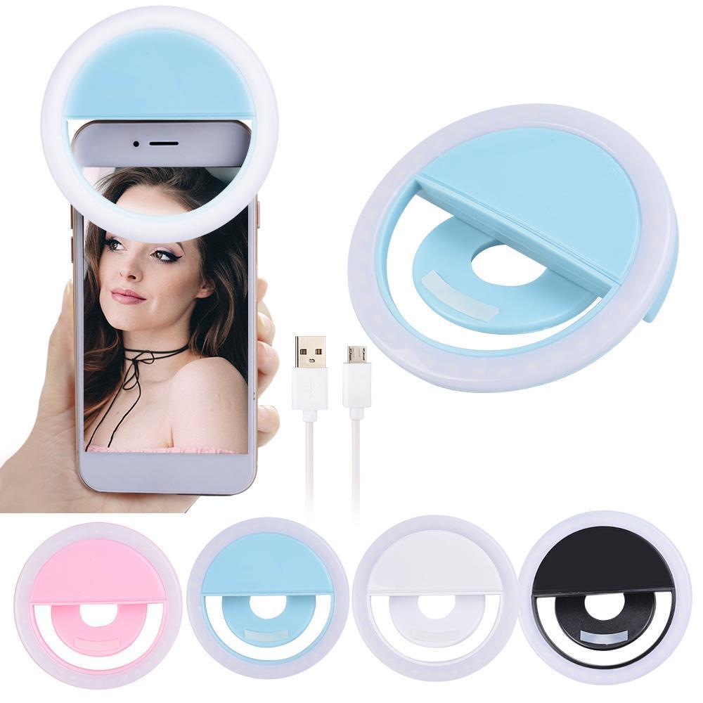 Charging LED Flash Beauty Fill Selfie Lampe Selfie EXTÉRIEUR Selfie Lumière Rechargeable pour tous les téléphones mobiles Livraison gratuite