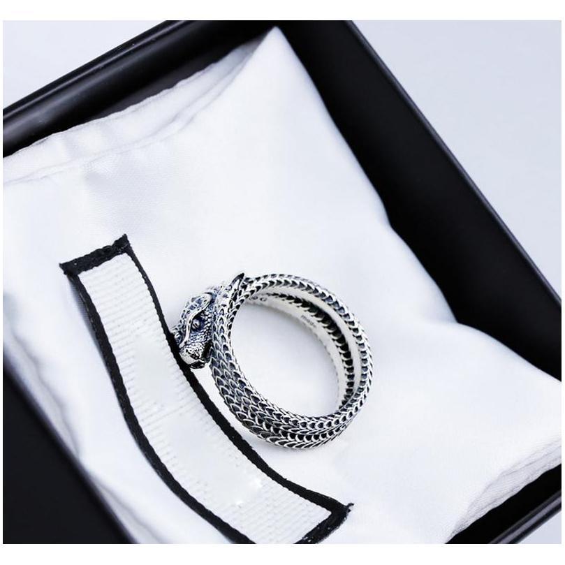 Anillo de dedo de las mujeres de las mujeres con el anillo de la serpiente animal del sello para la fiesta de regalo High Quali Sqcczt DH_Seller2010