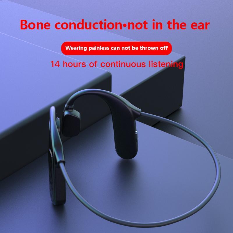 MD04 Bluetooth Wireless Headphones 3D stereo basso di riduzione del rumore di musica di sport auricolari a conduzione ossea HiFi Business Call auricolare per il telefono