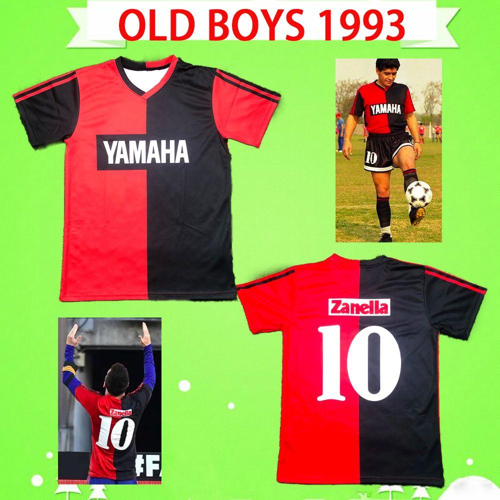 # 10 maradona 1993 newells أولد الأولاد الرجعية لكرة القدم جيرسي خمر كرة القدم قميص رجالي ذكرى camiseta دي فوتبول كلاسيكي مايوه