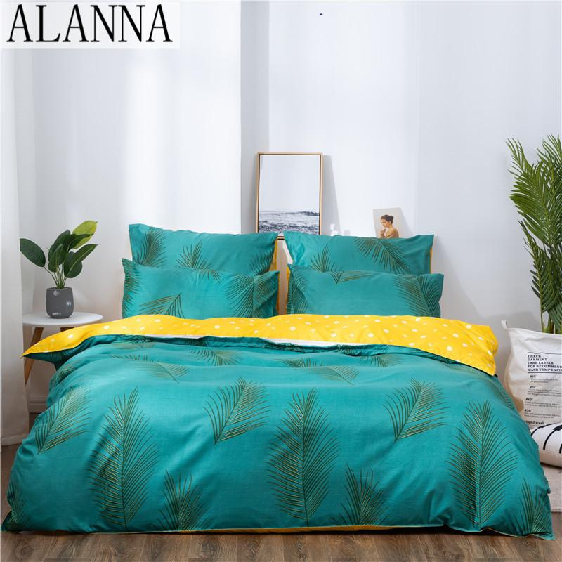 ALANNA X-1006 Напечатанные твердые постельные принадлежности для досника для дома 4-7 шт. Высокое качество Прекрасный узор с звездным деревом Цветок 201116