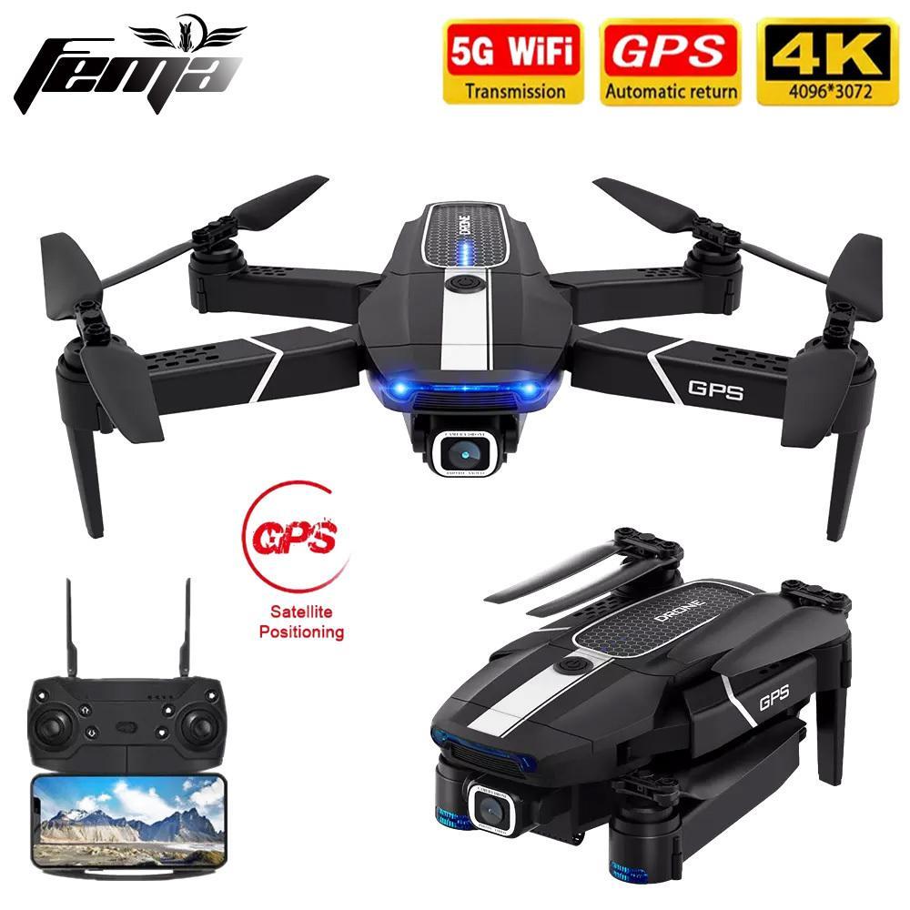 FEMA E525 E525S GPS Drone with 4K / 1080P 5G Wifi FPV HD Wide Angle Camera Foldable Mini Dron RC Quadcopter Follow Me VS E520S 201208