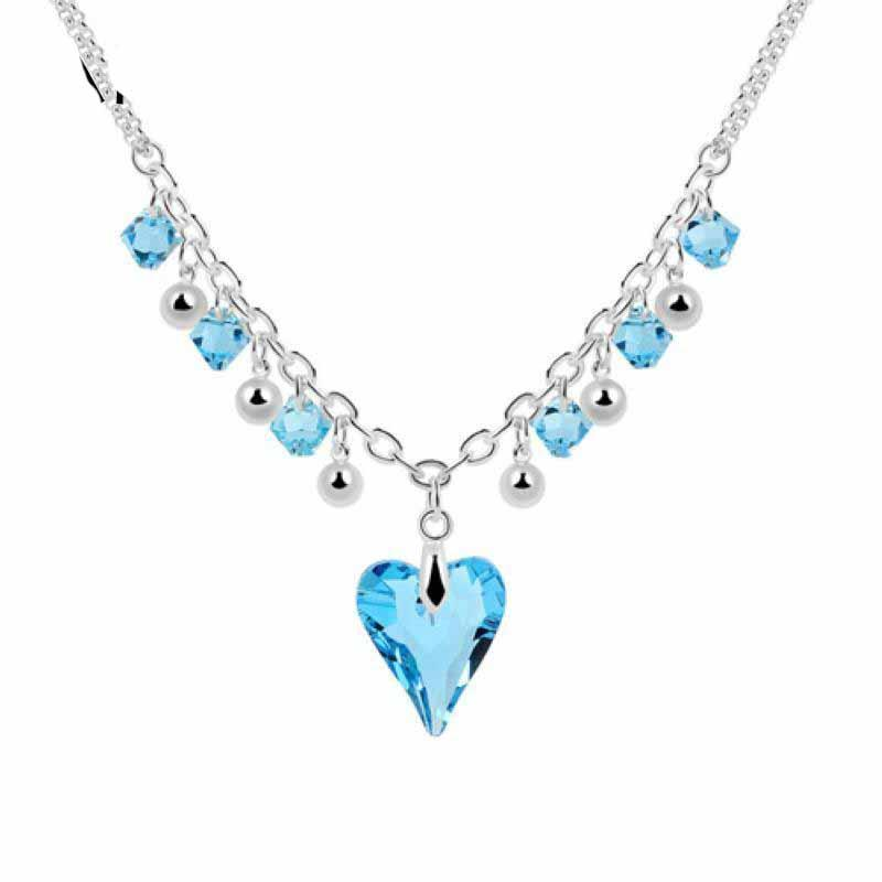Crystal Heart Beckant Ожерелье Новое Прибытие на 2020 Подарок женщин на День Святого Валентина Кристаллы из Австрии