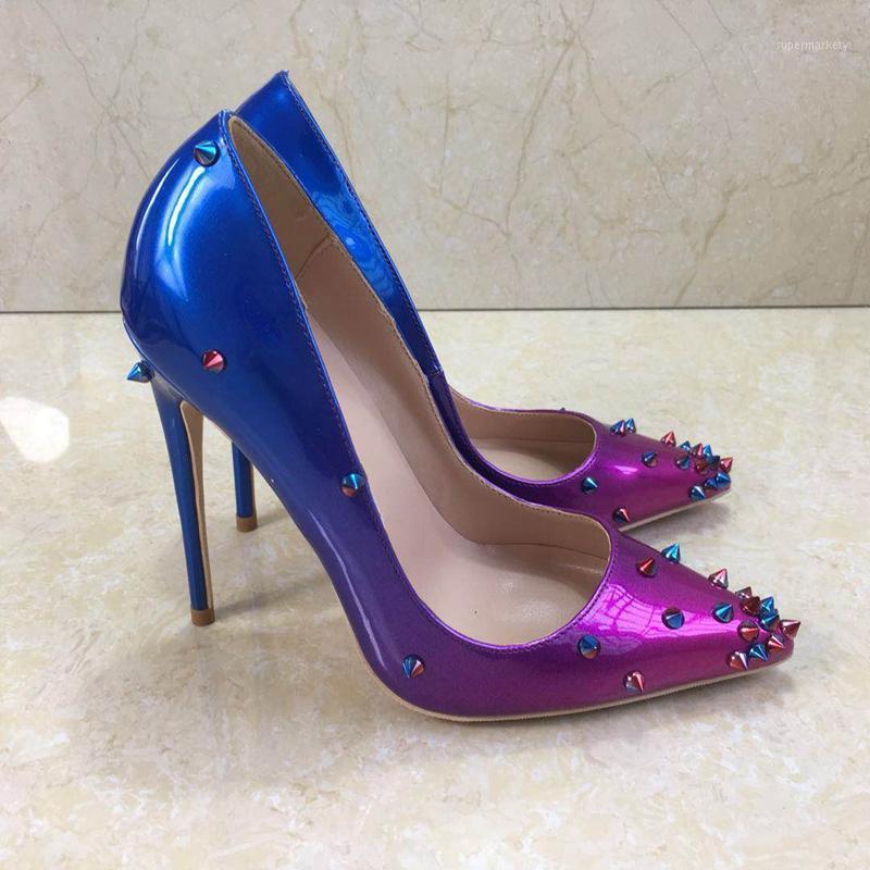 100% bombas de mujer tacones dama bombas de dama con punta poco profunda zapatos de mujer zapatos de fiesta Slip-on PU cuero wedding1