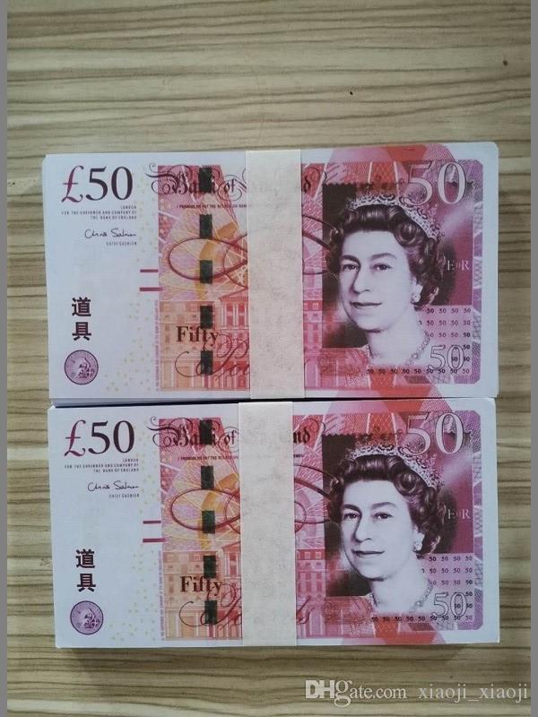 Neue Großbritannien-Dollar-Zählung Vertrieb Gefälschte Notiz-Requisite-Prop-Pfund Festliche Spielzeug Geldspiele Filme Hot Dollar Party Geld Bank Kollektionen Geschenke-2 AUVT
