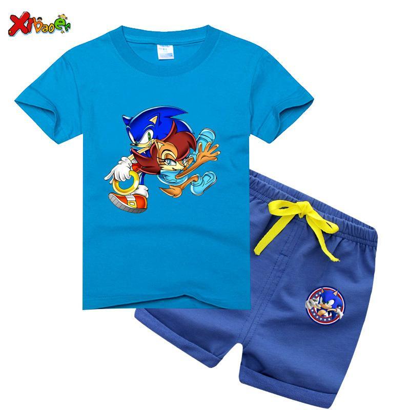 children suit clothing Boys Clothes set Summer 2020 Kids sets Baby tollder tShirt girl Outfit Sport Suit Children Clothing Set LJ200831