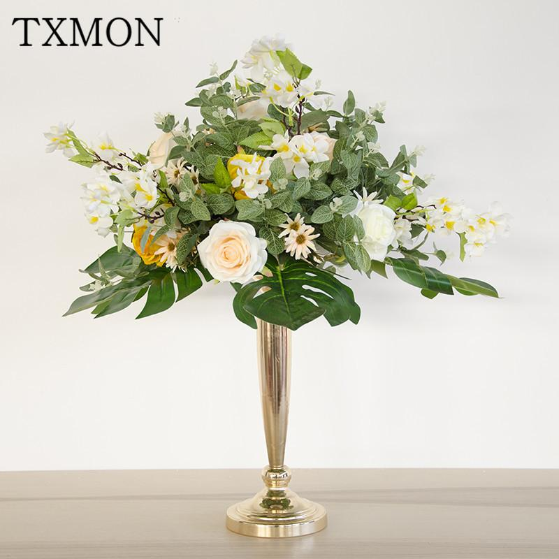 New Sen Dipartimentale Tavolo da sposa Flower Puntelli da sposa Hotel Pre-Function Area Simulazione Decorazioni floreali Z1119