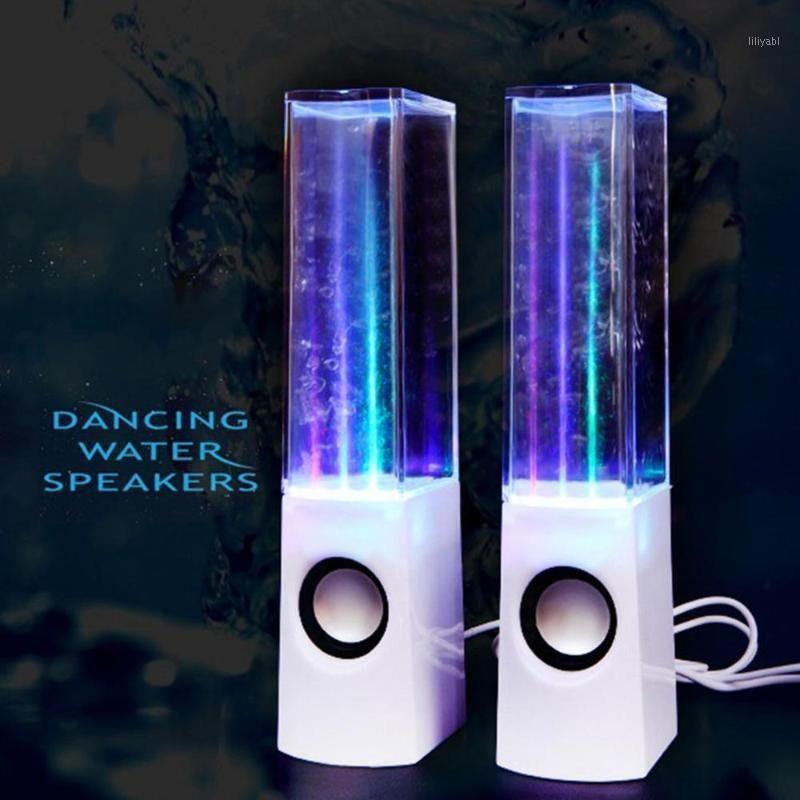 Altavoz de danza de agua creativa al por mayor, fuente de música, luces de colores, chorro de agua, laptops, altavoces de teléfono móvil