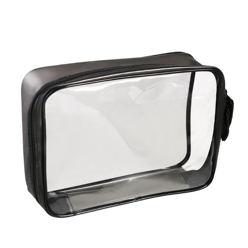 Maquillaje de viaje Fabala Impermeable Cosmética Portátil Multifuncional Almacenamiento PVC Cremallera Transparente Ligero