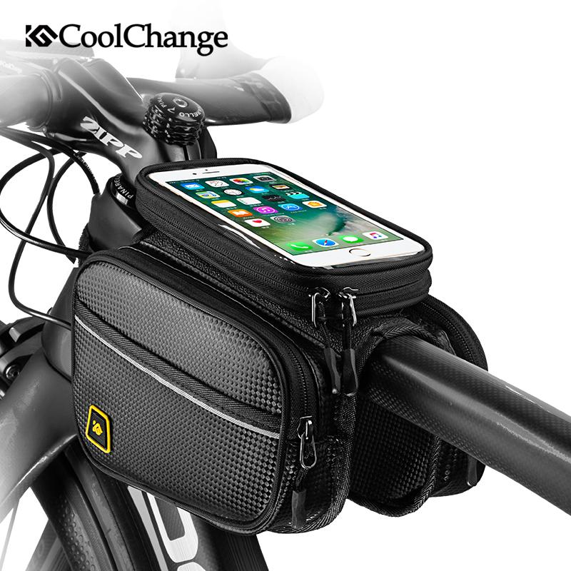 Per pollice / 6.2 pollici Bicicletta Touch Bike Top Screen Borsa Manubrio Borsa per smartphone Caso 6.0 Borsa Tubo impermeabile Porta cellulare Phone GOVMA