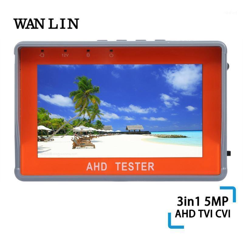Wanlin 4,3 Zoll 5MP / 1080p AHD / TVI / CVI CCTV Tester Monitor Analoge Kamera Testing UTP-Kabel 12V1A-Ausgang USB 5V-Ausgang Audio1
