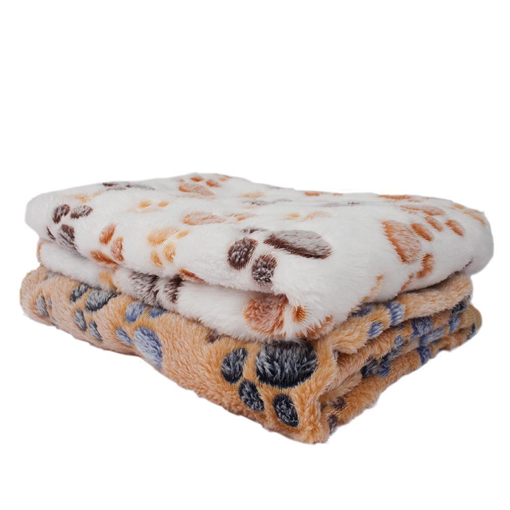 Coperta inverno cane cat letto materassino tappetino stampa caldo materasso addormentato piccolo medio cani gatti coral pile in pile rifornimenti per animali domestici