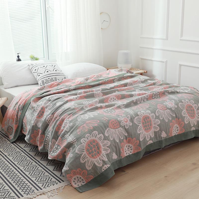 Algodão Gaze Quilt Quilt Quilt Ar condicionado máquina lavável cama cama de algodão casual