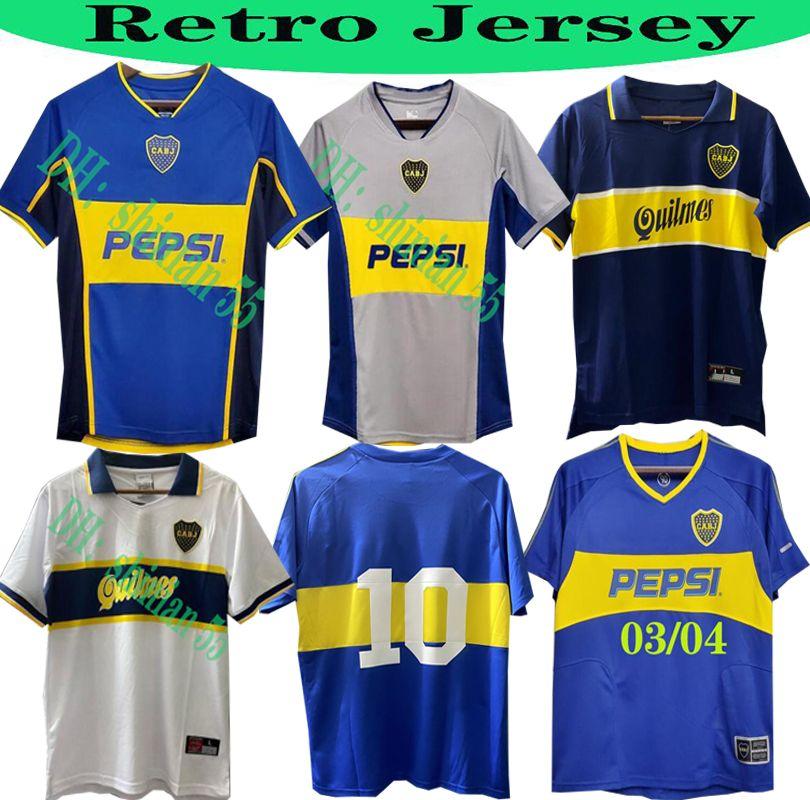 1981 Top Boca Юниоры Ретро с длинным рукавом Футбол Джерси Марадона Римская Caniggia Palermo Короткие рукава Ретро Футбольная Рубашка