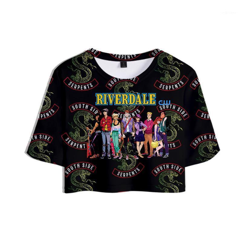 T-shirt 3D Stampa Riverdale Estate Casual Tops Donne Vestiti 2018 Harajuku Top Hip-hop Manica corta Plus Size1