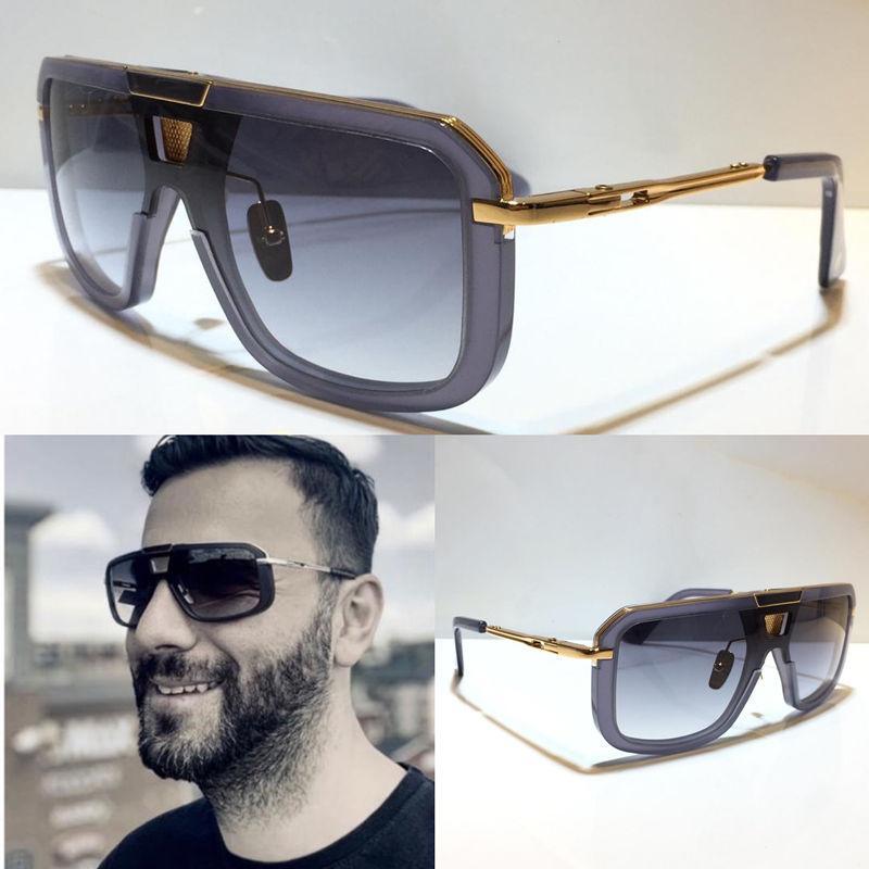 M 8 선글라스 남성 금속 레트로 특별히 유니섹스 선글라스 패션 스타일 플레이트 프레임 UV 400 미러 상위 품질 패키지