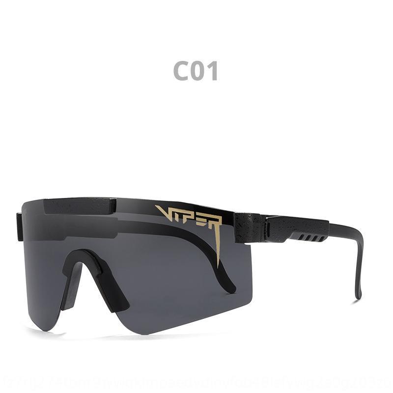 HQJ9 New Candy Color Viper Sunglasses coreano # 039; s Anti-UV Scrub Scrub Bright Lens Reflexivo Pit Sunglasses Bebê Óculos de sol D023