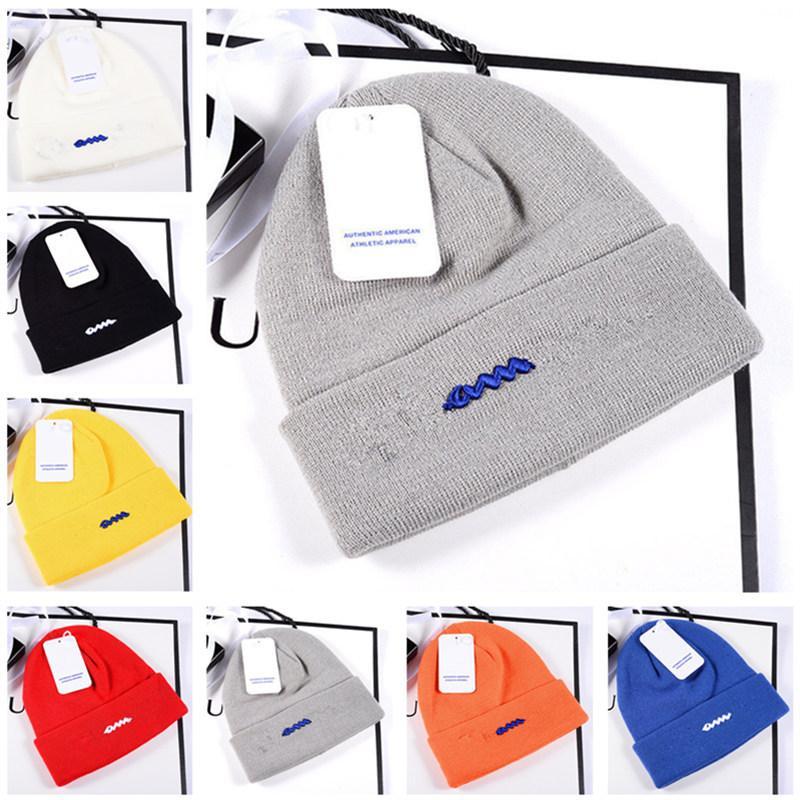 Unisex Knitted Hats Winter Beanies Classical Letter Skull Caps Trendy Design Crochet Hat Bonnet Warm Knit Cap Outdoor Beanie Ear Muff 2021