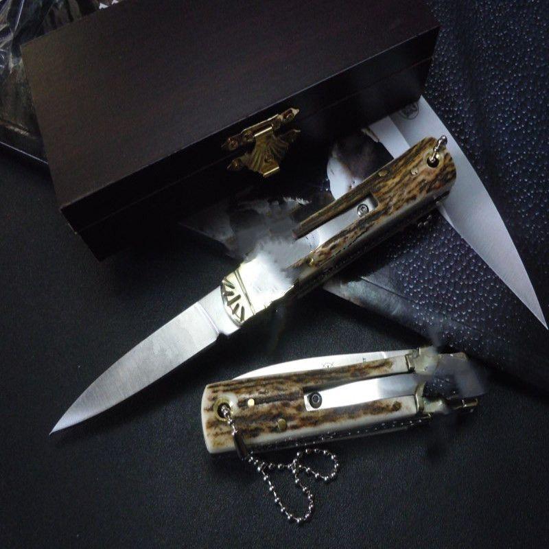 Germania Gen che risolve il classico piccolo coltello Lever Lever Camping Hunting Coltello Marco spedizione gratuita 1 PZ