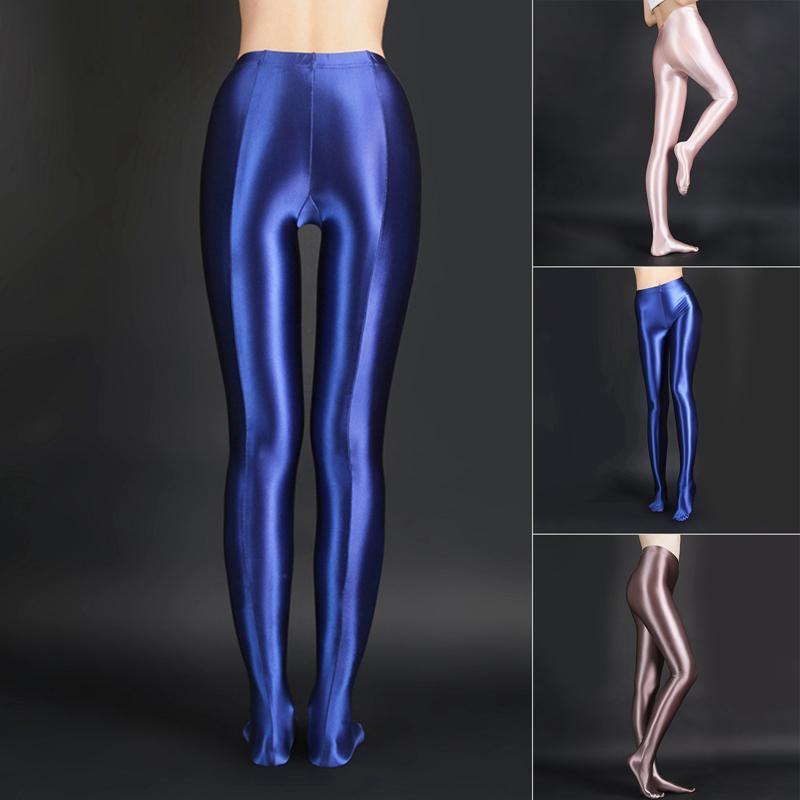 Sexy Ballet Dance Yoga Pantalones Mujeres Moda Brillante Ropa de clubes Fitness Entrenamiento Pantalones Partido Pantalón Casual Pantyhose Pantalón Qmtbq