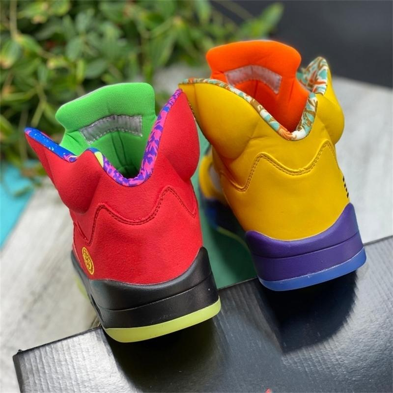 Melhor com Box Jumpman Barato O que os 5 homens de basquete sapatos CZ5725-700 Varsity milho fantasma verde laranja 5s homens esportes tra