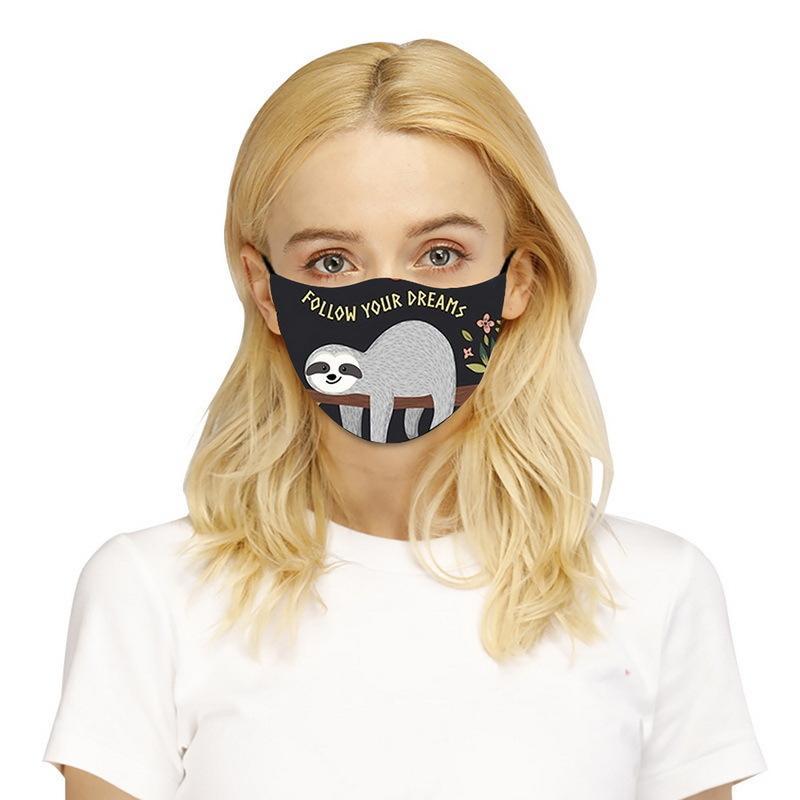 Nettes Tier gedruckt für Erwachsene Outdoor Waschbare atmungsaktive Cycling Mondmasker Halloween Cosplay Mask