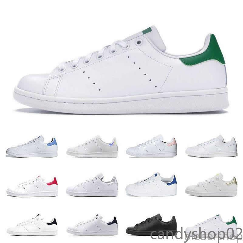 Hot Men Classics Stan Smith Women Flat Sneakers Green White Navy Blue Oreo Rainbow Fashion Mens Trainer Outdoor Sports Shoes ca02