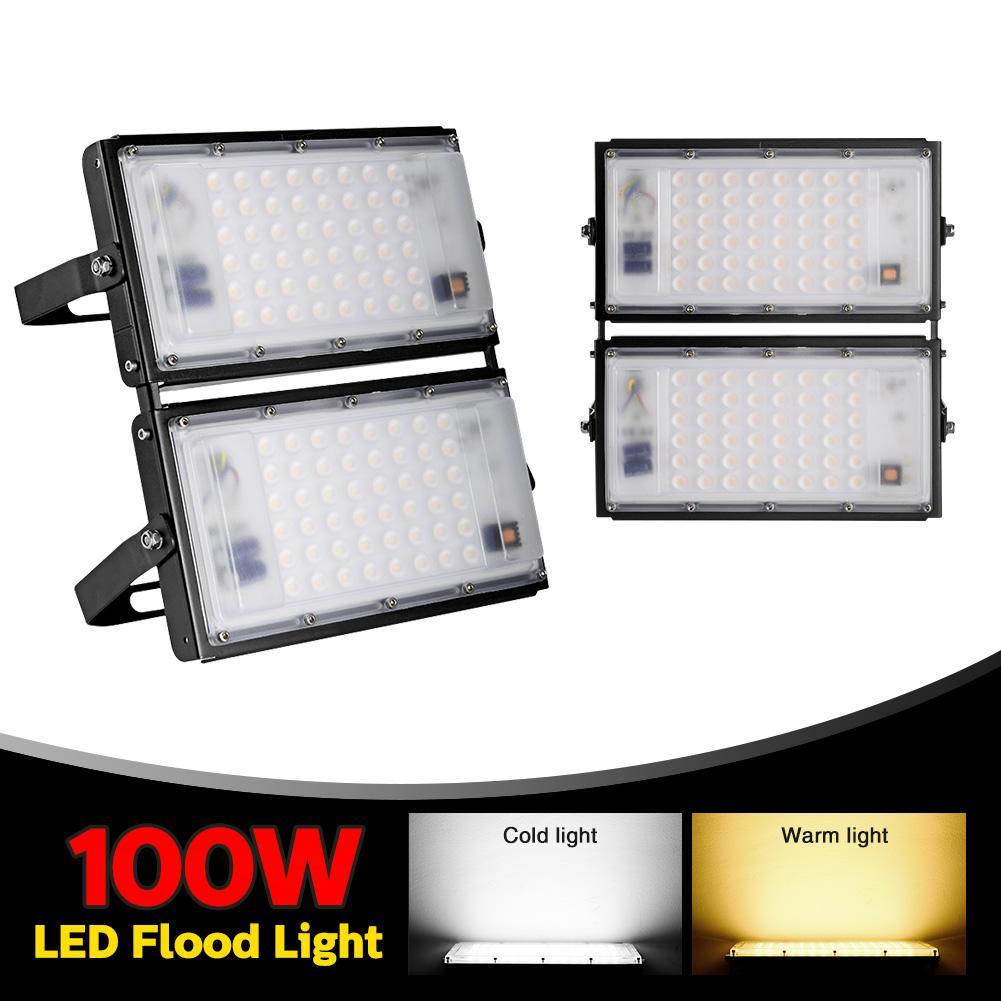 100W ultra-dünner Modul Light 110V warmweiß Flutlichtlager, Hotel, Swimmingpool, Werkstattauffahrt LED-Lampe.