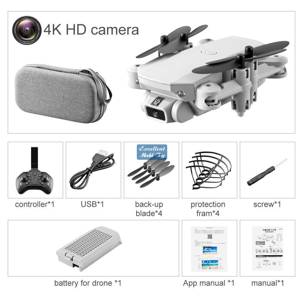 LSRC 4K HD WiFi FPV Faltbare Mini Drohne Kind Spielzeug, Gestenfoto, Flugzeugflug, Schönheitsfilter, Höhenhalterung, 360 ° Flip Quadcopter, VerwendenU