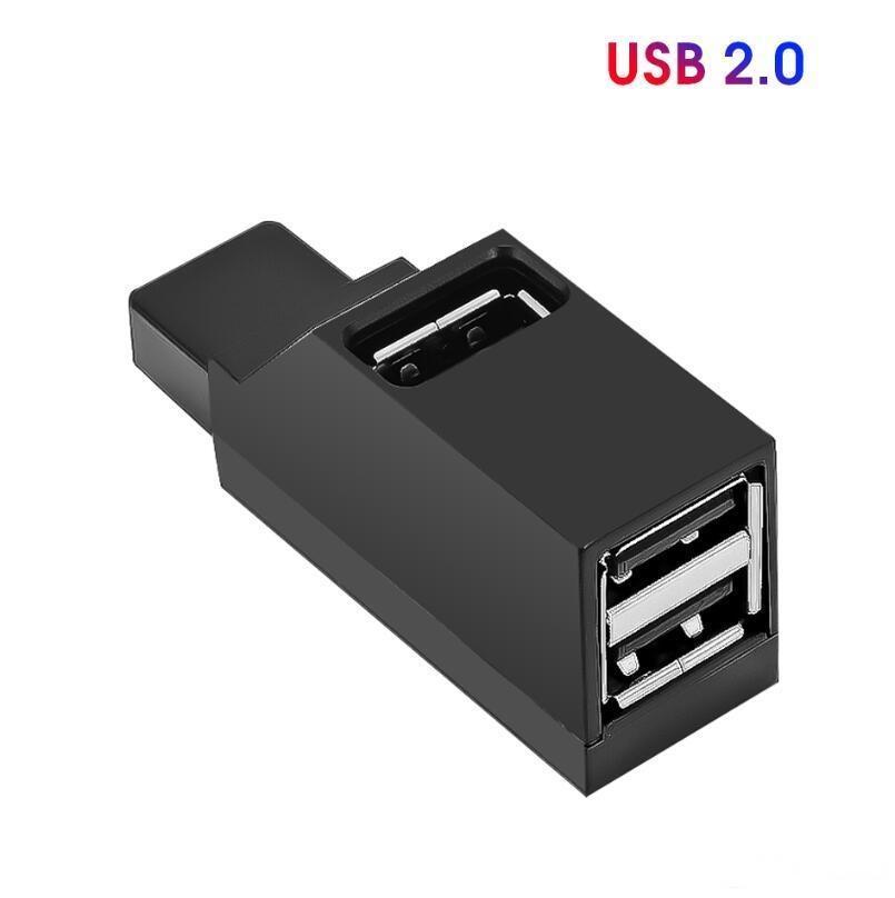 Mini 3 Porte USB 3.0 USB2.0 Splitter hub ad alta velocità Trasferimento dati Sfiletta Adattatore per PC Laptop MacBook