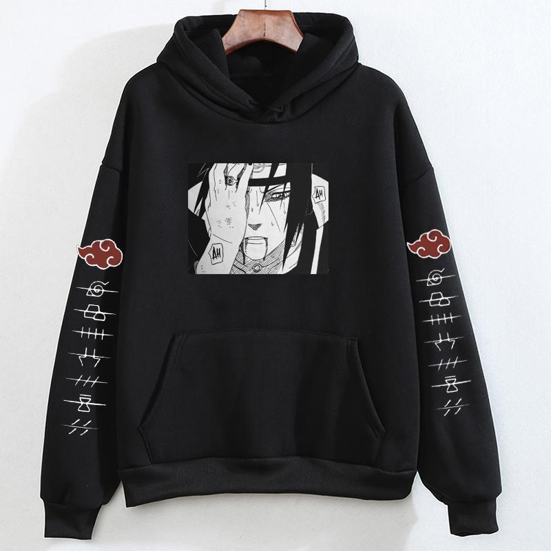 Sudaderas Herbst Anime Frauen / Männer Pullover Frühling Clan Uchiha Naruto Tops Hoodies Kakashi Weibliche Sweatershirt Kleidung Outwear Kovkf