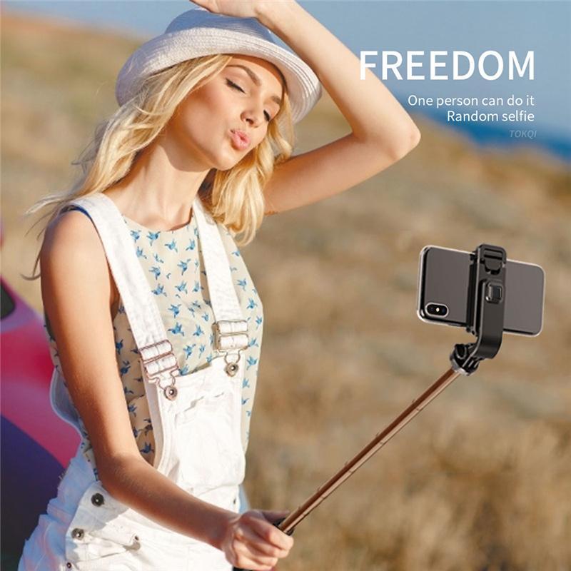 3 в 1 мини Selfie Monopod Tripod портативный дистанционный дистанционного управления Беспроводная Bluetooth Selfie Stick со складным универсальным для смартфона