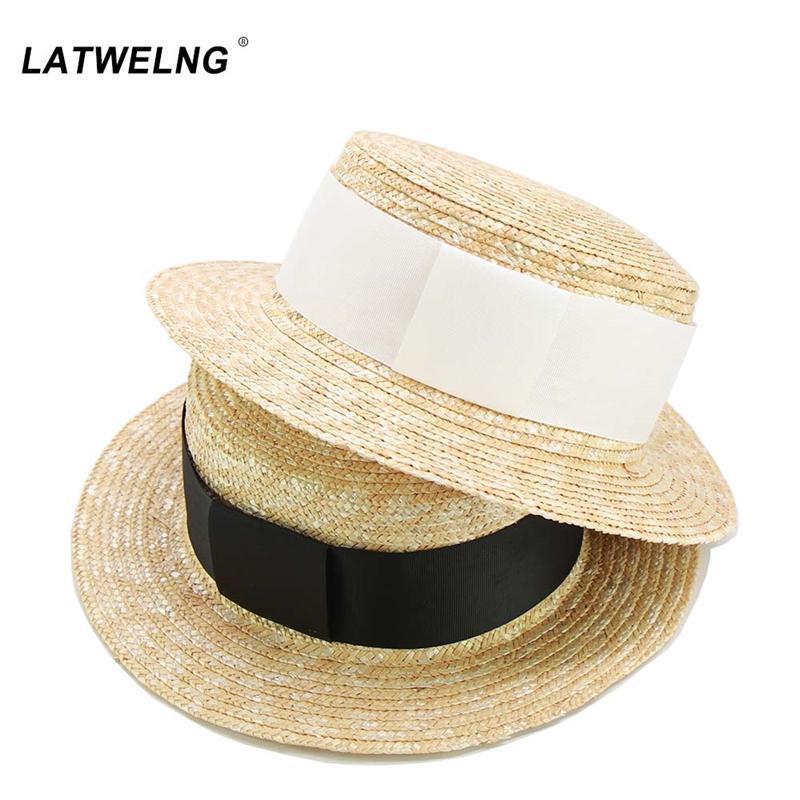 Широкие шляпы Breim оптом 52см 57см летняя солома солома солнцезащитная шляпа взрослых детей пляж девушки мальчики панама кепки женщины вечеринка платье
